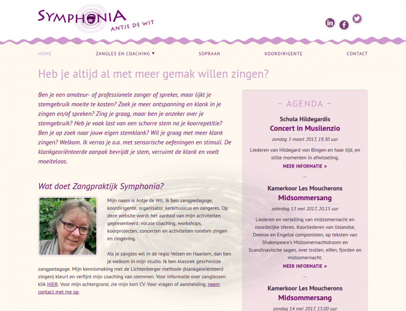 Website Antje de Wit