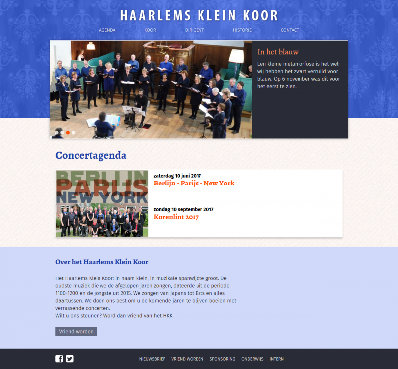 Website Haarlems Klein Koor